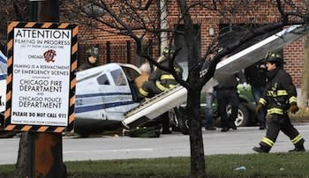Broken News: Local TV Station Reports Staged 'Chicago Fire' Plane Crash As Real