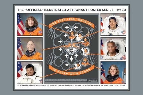 Astronauts Are Stars in New Art Posters Launched on Kickstarter