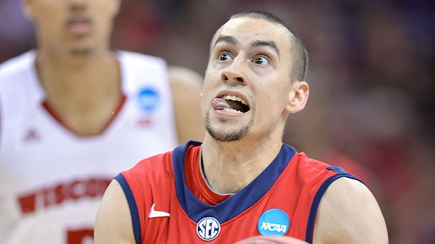 Henderson grimaces while going up for a shot during Mississippi's win over Wisconsin. (Getty)