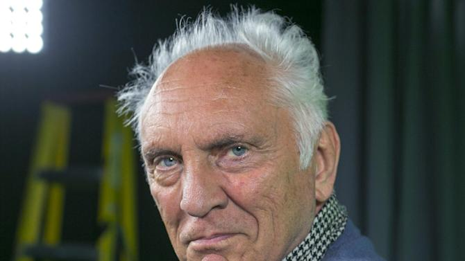 "In this Wednesday, June 12, 2013 photo, English actor Terence Stamp poses for a photo during an interview in Los Angeles. Before ""Man of Steel"" and Michael Shannon, there was Stamp delivering what debatably remains the quintessential screen version of General Zod: perhaps the most frightening of all the screen villains to take on Christopher Reeves' Superman. Some 35 years later, Stamp is back onscreen -- sometimes frightfully, always delightfully grumpy as a pensioner who finds his lost voice, and heart, in a local seniors choir in the drama, ""Unfinished Song."" (AP Photo/Damian Dovarganes)"
