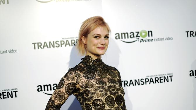 "Singer/songwriter Alison Sudol, known professionally as A Fine Frenzy, poses during Amazon's premiere screening of the tv series ""Transparent"" at the Ace Hotel in downtown Los Angeles"