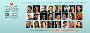 Sri Sri Ravi Shankar Starts A Global Dialogue Through Google Plus Hangout image Sri Sri Ravi Shankar G plus hangout