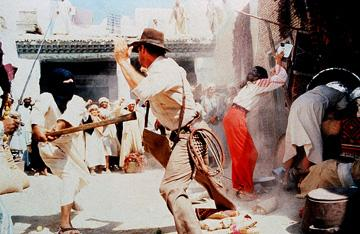 Harrison Ford and Karen Allen in Paramount Pictures' Raiders of the Lost Ark