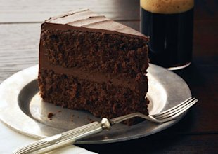 Not that we dieters should care, but that's a Chocolate Stout Layer Cake with Chocolate Frosting.