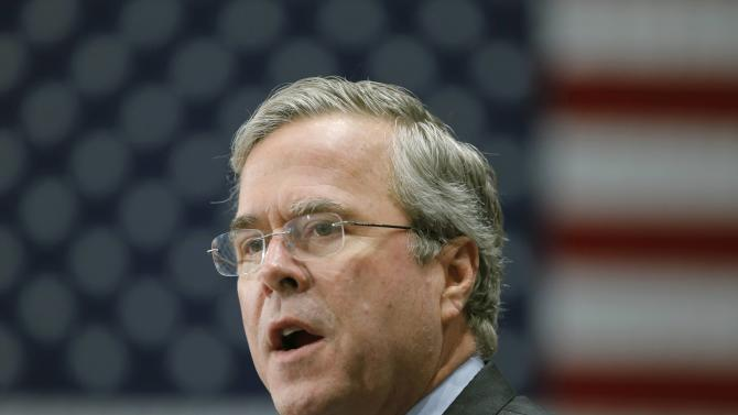 Republican presiential candidate Jeb Bush delivers remarks to supporters at a campaign event in Anderson, South Carolina