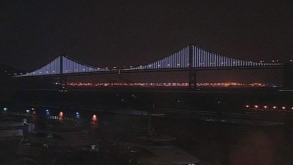 Bay Bridge Lights Time Lapse Video