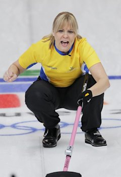 Sweden's Eva Lund during the Vancouver 2010 Olympics (The Canadian Press)