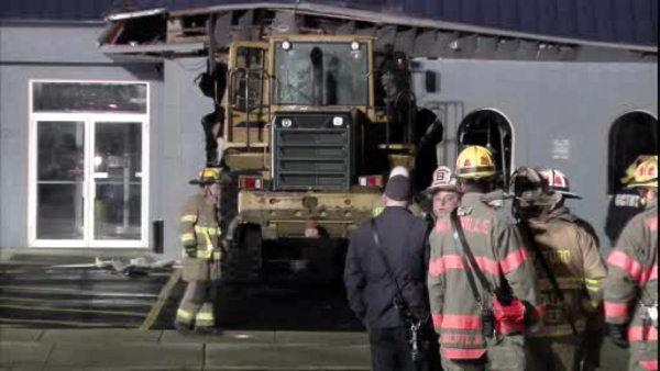 Stolen front-end loader slams into south Jersey diner