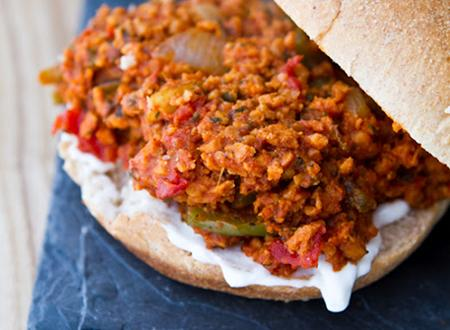 Garden Veggie Sloppy Stuffed Joes