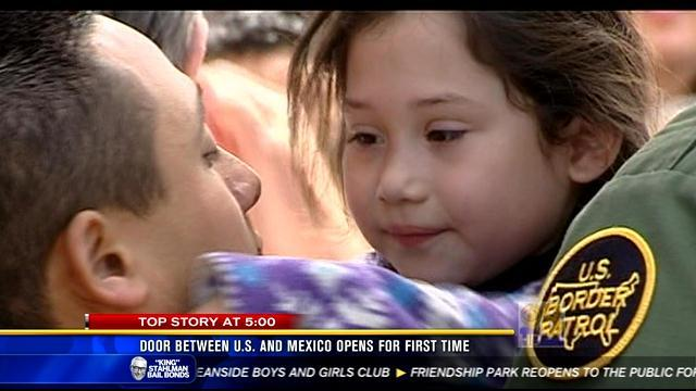 Door between U.S. and Mexico opens for first time