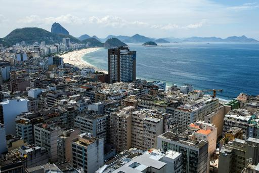 General view of Copacabana beach area in Rio de Janeiro, Brazil on March 7, 2014