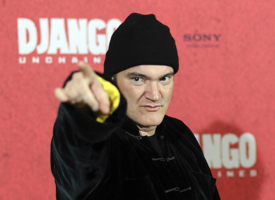 "US movie director Quentin Tarantino poses during a photo call ahead of tonight's premiere of his movie ""Django Unchained"" in Berlin, Germany, Tuesday, Jan. 8, 2013. (AP photo/dpa, Britta Pedersen)"