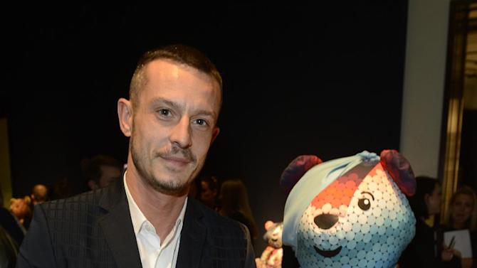 Designer Jonathan Saunders seen at the Designer Pudsey 2012 Collection auction in association with BBC's Children in Need at Christie's Auction House on Thursday, Nov. 15, 2012, in London. (Photo by Jon Furniss/Invision for Children in Need/AP Images)