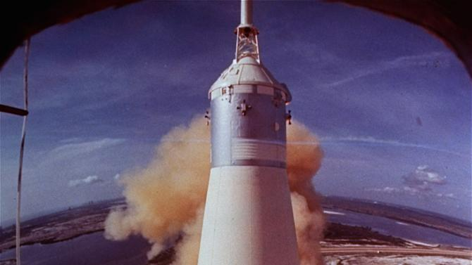 In this July 16, 1969 file photo provided by NASA, the Saturn V rocket that launched Neil Armstrong, Buzz Aldrin and Michael Collins on their Apollo 11 moon mission lifts off at Cape Kennedy, Fla. For more than four decades, the powerful engines that helped boost the Apollo 11 mission to the moon have rested in the Atlantic. Now Internet billionaire and space enthusiast Jeff Bezos, CEO of Amazon.com, wants to raise at least one of them to the surface. (AP Photo/NASA, File)