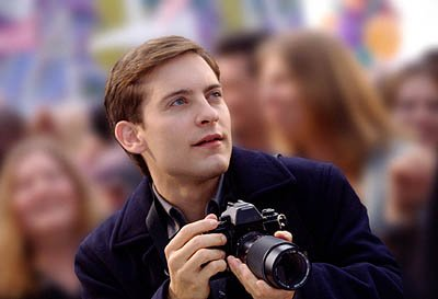 Tobey Maguire as Peter Parker in Columbia Pictures' Spider-Man