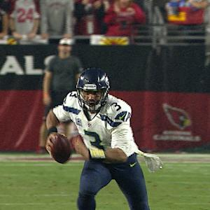 Seattle Seahawks quarterback Russell Wilson 22-yard run