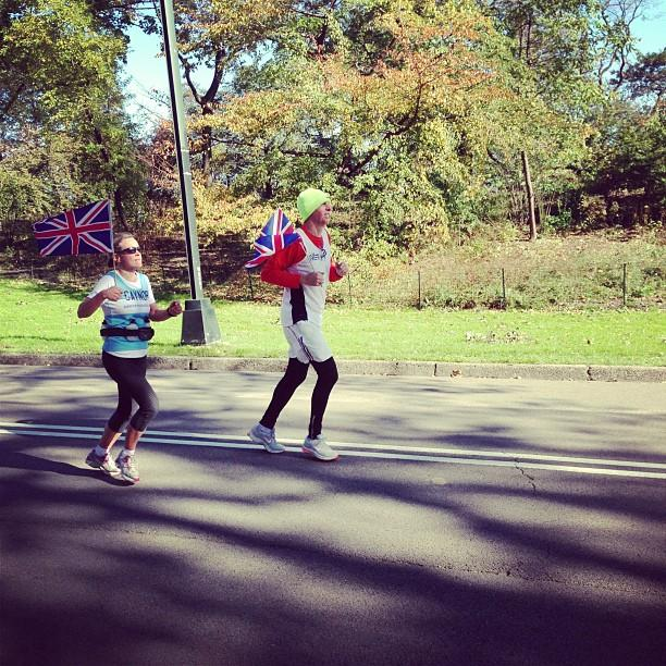 Representing the UK. #unofficial #nycmarathon