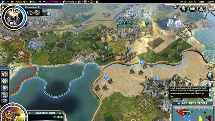"This video game image released by 2K Games/ Firaxis Games shows a scene from ""Civilization V: Gods & Kings.""  Creator Sid Meier's sweeping turn-based strategy games give players the ability to build and control empires spanning several fictional centuries. While the world depicted in ""Civ II"" stops evolving in 2020, players can keep going into the future, as a user named Lycerius who posted the details of his ongoing 10-year-long game on the social news site Reddit has done. (AP Photo/2K Games/ Firaxis Games)"