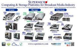 "Supermicro Exhibits New 4U 72x 3.5"" HDD Storage Platform with 10GB/sec Throughput for Broadcast Media Applications at NAB 2013"