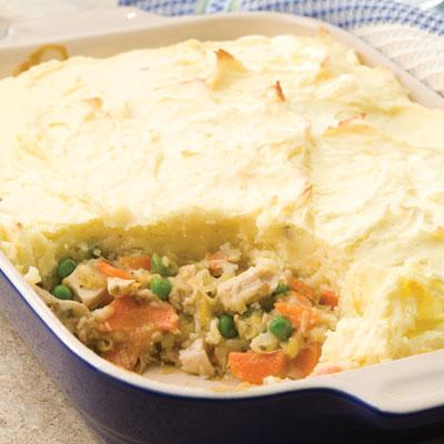 Use Leftover Mashed Potatoes in: Turkey & Leek Shepherd's Pie
