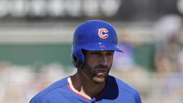 Nate Schierholtz's homer powers Cubs past Reds 9-0