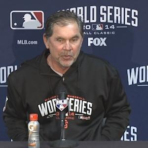 Raw Video: Giants Manager Bruce Bochy After Game 2 Loss