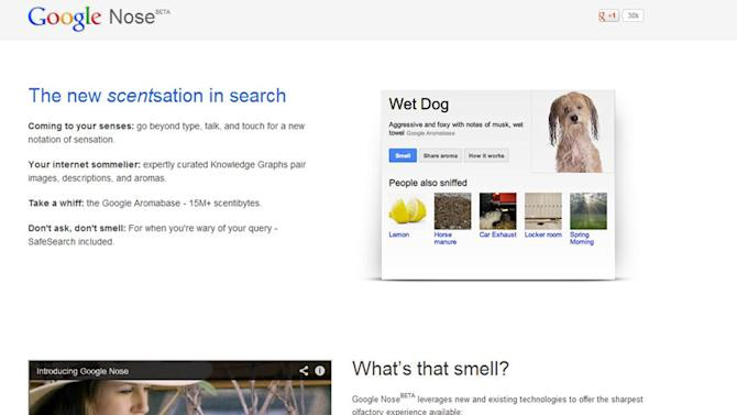 April Fools: YouTube shut down, Google adds smells