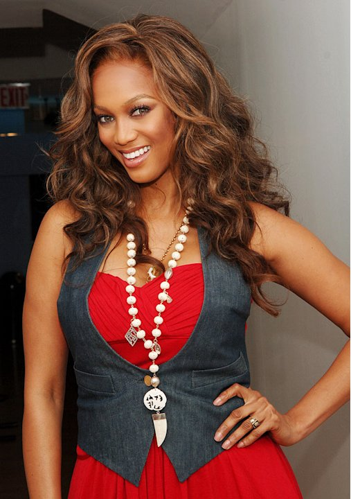 Tyra Banks visits MTV's TRL.