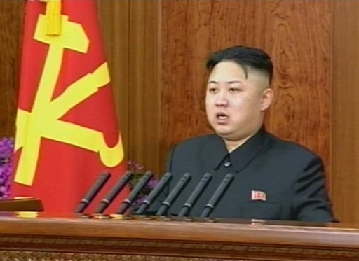 "<p>This screen grab taken from North Korean TV on January 1, 2013 shows leader Kim Jong-Un delivering a rare New Year's address. South Korea has dismissed Kim's speech as ""bland"" despite his apparent overture to Seoul about reducing tensions.</p>"