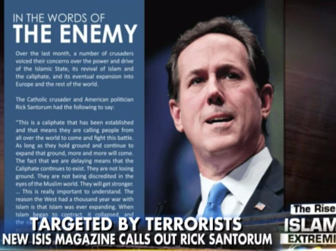Presidential hopeful Rick Santorum just compared The New York Times to ISIS propaganda