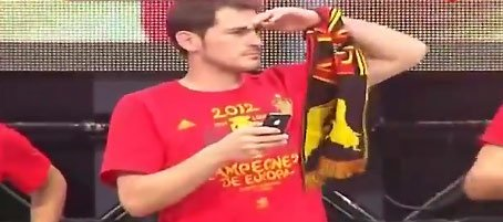 Iker Casillas Celebracin Espaa Eurocopa
