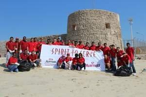 Marriott's Bahrain Luxury Hotel Joins Beach Cleaning Campaign