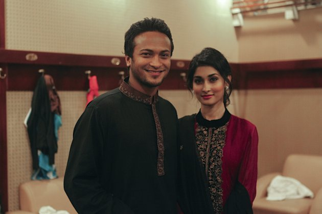 In this photo taken on December 10, 2012, Bangladesh's cricket player Shakib al Hasan (L) and his girlfriend Umme Ahmed Shishir in Dhaka. Bangladesh's star player and formerly the nation's most eligib