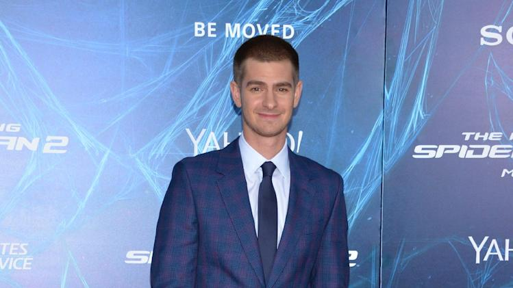 "Andrew Garfield arrives at the NY Premiere of ""The Amazing Spider-Man 2,"" on Thursday, April 24, 2014, in New York. (Photo by Evan Agostini/Invision/AP)"