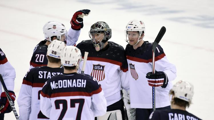 Olympics: Ice Hockey-Men's Prelim Round-USA vs SVK
