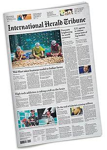 Au Revoir, International Herald Tribune - It's Now 'International NY Times'