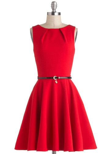 Lucky Be A Lady Dress in Red
