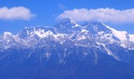 <p>An aerial view of the Mount Everest range taken in February 2012. The world's highest mountain should not be hard to spot but American space agency NASA has admitted it mistook a summit in India for Mount Everest, which straddles the border of Nepal and China.</p>