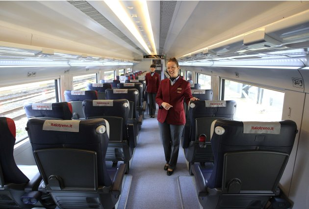 [imagetag] Train crew of NTV, pose in …