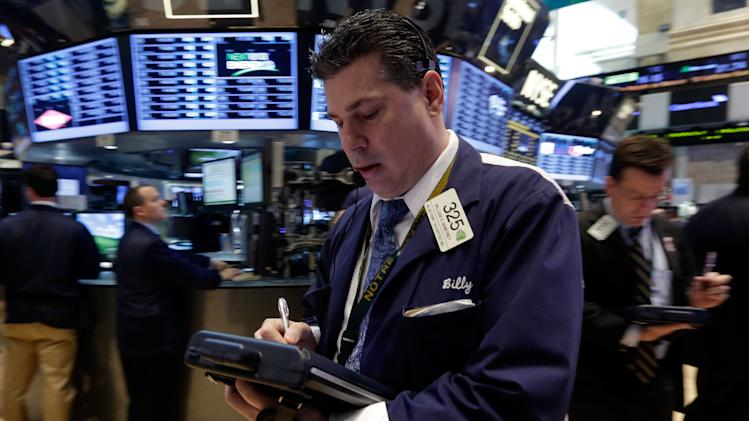 Stocks gain on encouraging news about the economy