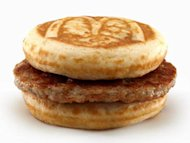 Do we really need to combine the maple goodness of pancakes or waffles with sausage in a hand-held sandwich?