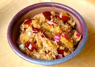 Plum salad with quinoa