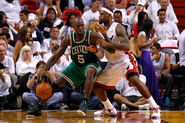Kevin Garnett #5 Of The Boston Celtics Posts Getty Images