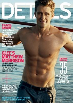 Matthew Morrison as seen on the cover of Details magazine for their December 2010/January 2011 issue. -- Details Magazine
