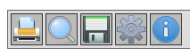 Screen shot of a toolbar with buttons labeled with icons created using background images