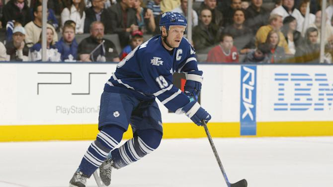Mats Sundin of the Toronto Maple Leafs