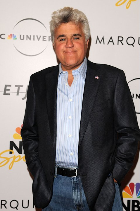 Jay Leno arrives at the NBC Universal Pre Super Bowl event at Portofino on January 31, 2009 in Orlando, Florida.