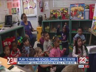 President proposes preschool for all children