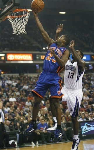 Anthony, Chandler lead Knicks over Kings 114-92