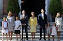 Spain's royal family pose for a photo at Madrid's Zarzuela Palace